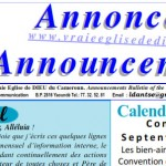 Bulletin of Announcements July 2014