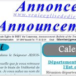 Bulletin of announcements  May 2015